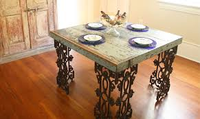 custom trestle dining table with leaf extensions built in 2017