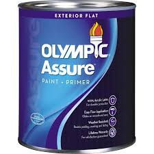 shop olympic assure tintable flat latex interior paint and primer