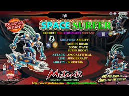 With Challenge Mutant Genetic Gladiator Win Exclusive Mutant Space Surfer With