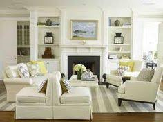 new england style homes interiors furnature layout striped chairs comfortable gorgeous fireplace