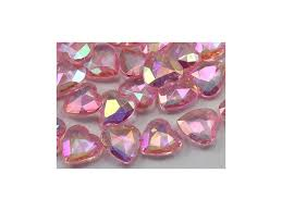gems for table decorations 16mm pink heart decorating gems ab coating for table scatter wedding