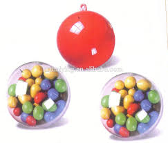 hollow clear plastic acrylic fillable ball ornament for christmas