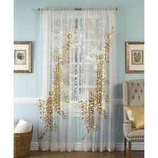 Mint Green Sheer Curtains Buy Gold Sheer Curtains From Bed Bath U0026 Beyond