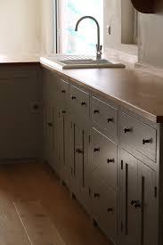 shaker style kitchen birch plywood cabinets with hand painted