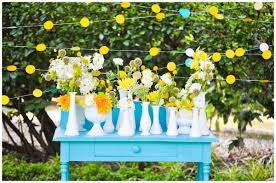 rustic shabby chic vintage black white yellow centerpiece