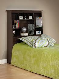Headboard Bookshelf Interior Top Notch Ideas For Bedroom Using Dark Oak Finish