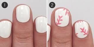 pink floral and glitter nail art for spring more com
