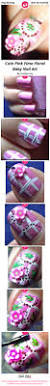cute pink fimo floral baby nail art nail art gallery step by