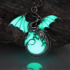 dragon necklace pendant images 60 off luminous dragon pendant necklace etify jpg