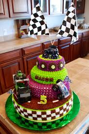 monster trucks grave digger crashes monster truck grave digger cake this ones for the boys