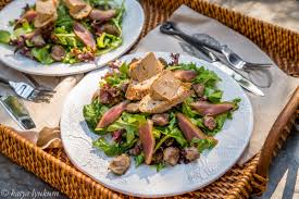 cuisine landaise gourmet duck salad aka landaise salad lyukum cooking lab