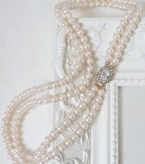 pearl string necklace images Vintage inspired 1950s two strand pearl necklace katherine swaine jpg