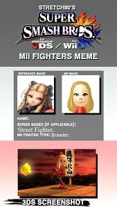 Street Fighter Meme - karin super smash bros mii fighter meme by samu9 on deviantart