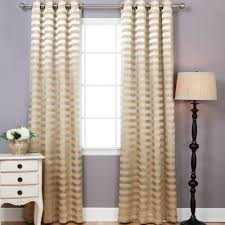 Rugby Stripe Curtains by Tarquin Satin Room Darkening Striped Semi Sheer Curtain Panels