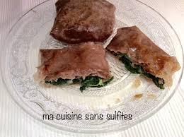 ma cuisine sans gluten feuilles de brick sans gluten farcies jambon ou saumon et épinards