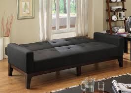 laporte contemporary futon sofa padded fabric charcoal