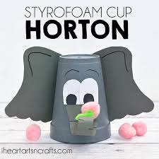styrofoam cup dr seuss horton hears craft kids