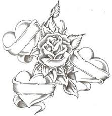 download image heart drawings with banner tattoo designs pc