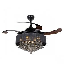 Chandelier Ceiling Lights 42 Inch Modern Led Chandelier Black Ceiling Fan With