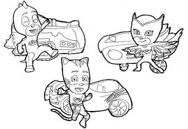pj masks action coloring sticker pages coloring pages