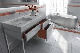 vanity consoles for bathrooms modern vintage deco Modern Vanities For Small Bathrooms