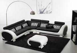 modern black and white leather sectional sofa modern beige leather sectional sofa