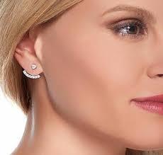 cuff earings 1 6ct cut russian lab diamond sterling silver stud cuff