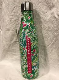 lilly pulitzer starbucks s u0027well swell water bottle nwt palm beach