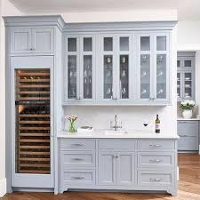 Grey Blue Cabinets Blue Butler Pantry Cabinets With Gray Quartz Countertops