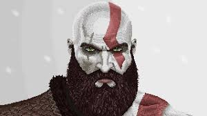 kratos god of war 4 pixel art youtube