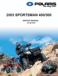 2005 polaris sportsman 400 500 repair manual