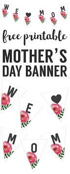 s day banner free printable diy flower free printables