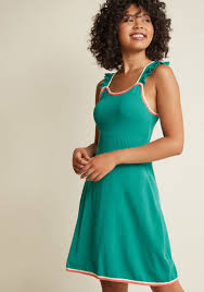 reason to reminisce knit dress in seaglass modcloth