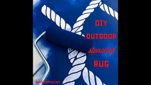 Painted Rug Stencils Painted Outdoor Rug Tutorial A Diy Patio Rug Made With Paint U0026 A