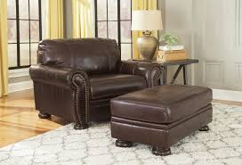 Brown Leather Accent Chair Set Of 2 Traditional Leather Match Chair And A Half With Rolled Arms