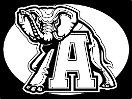 alabama football coloring pages coloring home
