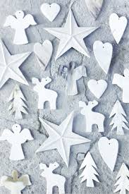 White Christmas Paper Ornaments by White Christmas Ornaments Idea Instead Of Making All Paper
