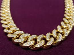 cuban link necklace images Icy miami cubanlink necklace 14k popular jewelry jpg