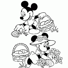 easter coloring mickey minnie easter coloring sheet free