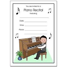 blank invitations piano recital boy fill in the blank invitations mandys moon
