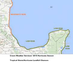 Us East Coast Map The 2015 Atlantic Hurricane Season Ambergris Caye Belize Message