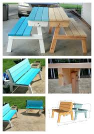 Ana White Patio Furniture Ana White Picnic Table That Converts To Benches Diy Projects
