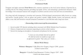 Fine Dining Server Resume Example by Baker Resume Examples Reentrycorps