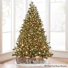 creative design 4 5 pre lit tree 7 ft led emerald pine