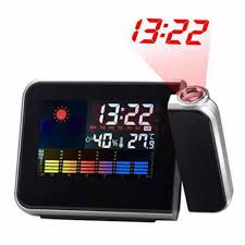 gadget de bureau meteo digital projection alarm clock weather station with temperature