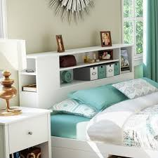 Bedroom Furniture Bookcase Headboard South Shore Breakwater Bookcase Headboard In White