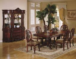 Traditional Dining Room Tables Cherry Finish Traditional Dining Room W Carved Details