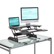 standing work station varidesk converts an existing desk with