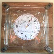 bits and pieces clock remade from junk country design style