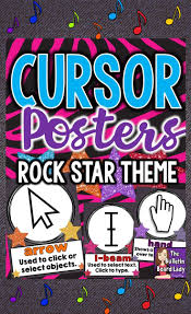 themed posters cursor cues posters for computer lab rock theme computer
